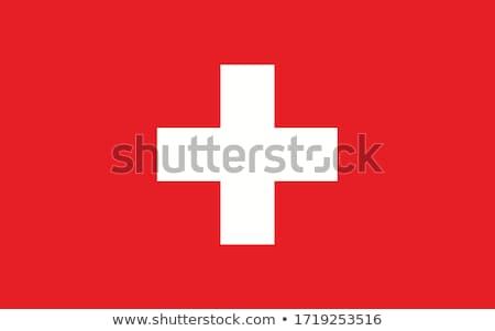 Banderą Szwajcaria wykonany ręcznie placu streszczenie Zdjęcia stock © k49red