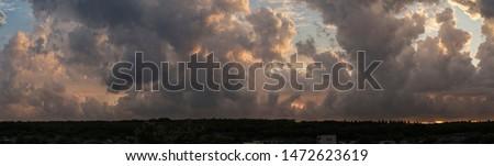 Fantastico drammatico tramonto cielo meraviglioso nubi Foto d'archivio © dariazu