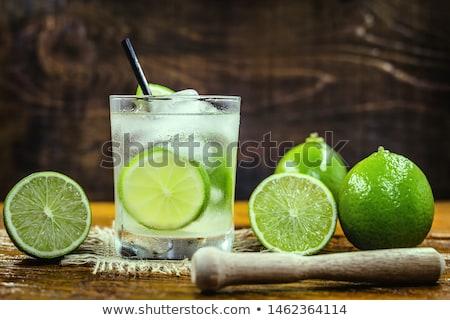 cocktail · Brazilië · suikerriet · suiker · kalk - stockfoto © netkov1