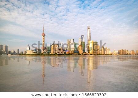 Xangai · China · panorama · cor · silhueta - foto stock © keko64