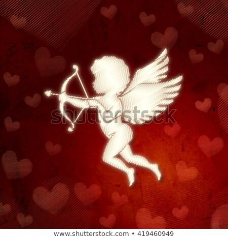 geschenk · vliegen · Rood · harten - stockfoto © marinini