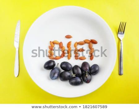Detox word on plate Stock photo © fuzzbones0