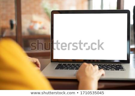 コンピュータ 画面 黒 コンピュータの画面 孤立した 白 ストックフォト © cosma