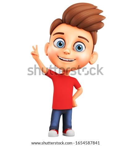 3d cartoon character   guy in love stock photo © maxmitzu