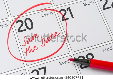 Save the Date written on a calendar - March 20 Stock photo © Zerbor