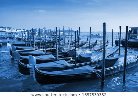 Gondolas moored in front of Saint Mark square in Venice Stock photo © smuki