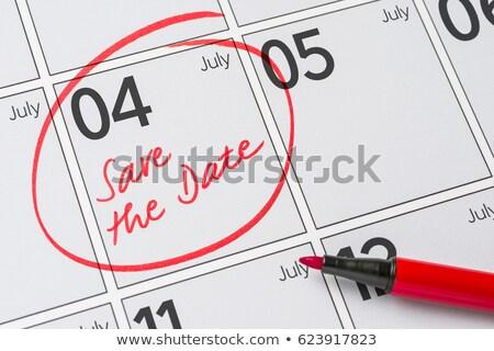 begin · maand · papier · kalender · pagina · spiraal - stockfoto © zerbor