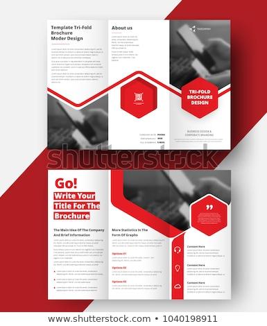 tri fold brochure design in creative business arrows style Stock photo © SArts