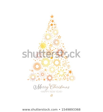 Kreative swirl Weihnachtsbaum Design Hintergrund Tapete Stock foto © SArts