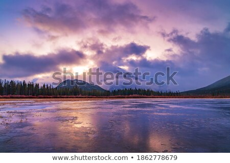 Snow clouds over mountains in scenic Alberta Stock photo © pictureguy