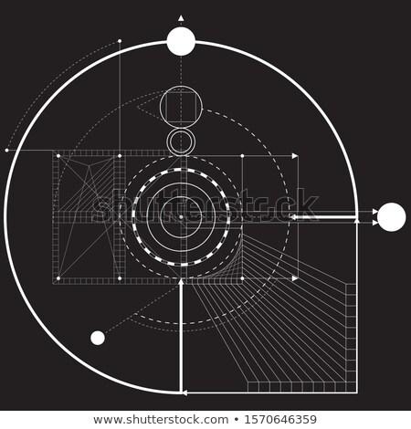 Сток-фото: этнических · шаблон · треугольник · Круги · мандала