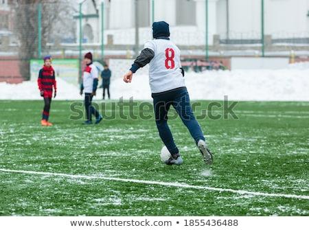 Nino nieve invierno diversión sonriendo Foto stock © IS2