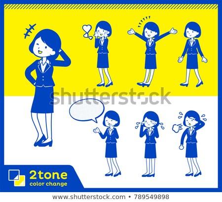 2tone type suit business women_set 3 Stock photo © toyotoyo