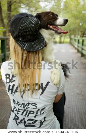 Long hair border T shirt woman 2 Stock photo © toyotoyo