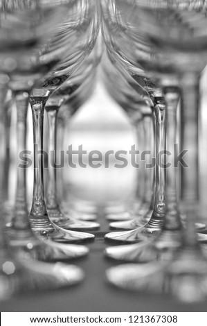 çok · boş · şampanya · gözlük · tablo · durmak - stok fotoğraf © ruslanshramko