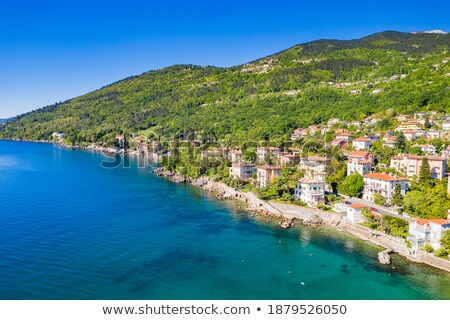 Town of Lovran waterfront panoramic view stock photo © xbrchx