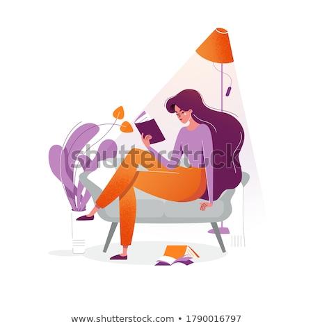 Houseplant illustration  flat style Stock photo © Olena