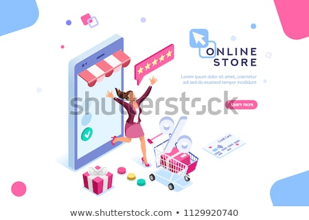Online gift purchase isometric 3D concept illustration. Stock photo © RAStudio