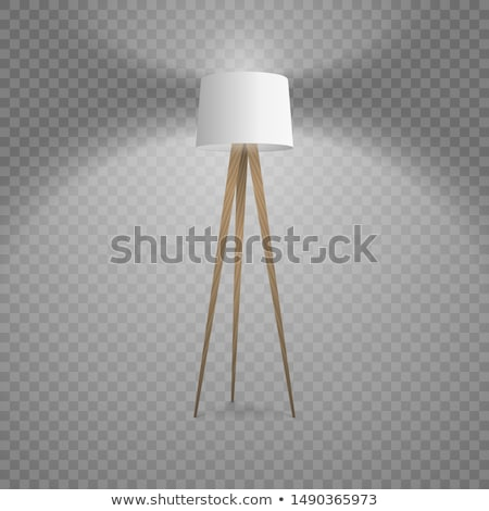 Table Lampshade Modern Style Vector Illustration Stock photo © robuart