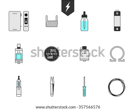 electric cigarette vapor atomizer tank stock photo © vector1st