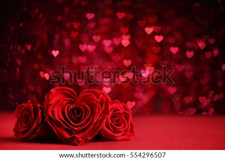dark valentines day background with decorative floral hearts stock photo © sarts