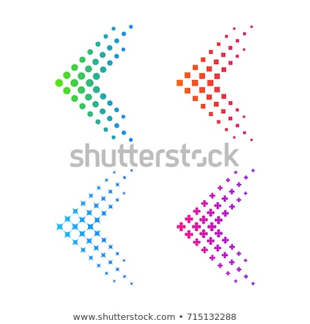 Pijlen vierkante vector icon kleurrijk Stockfoto © blaskorizov