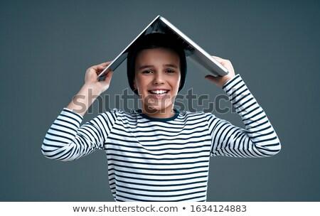 livre · maison · Teen · tête · up - photo stock © boggy