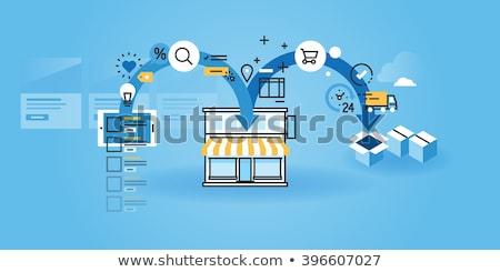 ícone · estilo · projeto · proteger · pagamento · financiar - foto stock © robuart