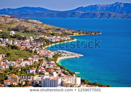 vue · bord · de · l'eau · région · Croatie · plage · eau - photo stock © xbrchx
