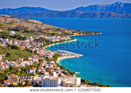 View of Tucepi waterfront in Makarska riviera Stock photo © xbrchx