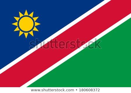 ナミビア フラグ 白 ビッグ セット 太陽 ストックフォト © butenkow