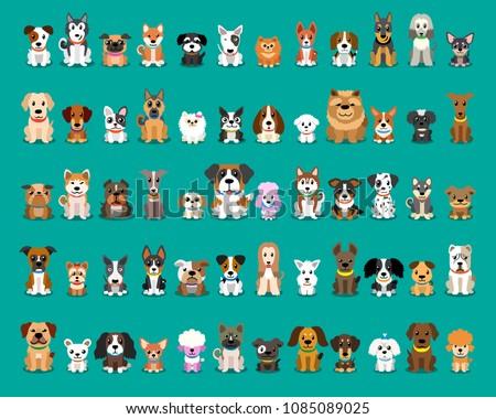 Set natura illustrazione cane panorama Foto d'archivio © bluering