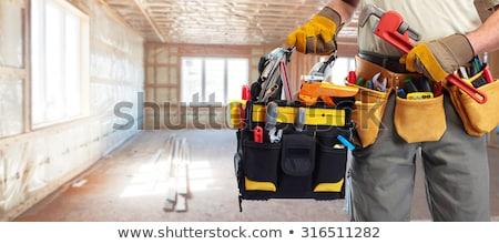 Encanamento construção ferramentas encanador cerâmico piso Foto stock © Kurhan