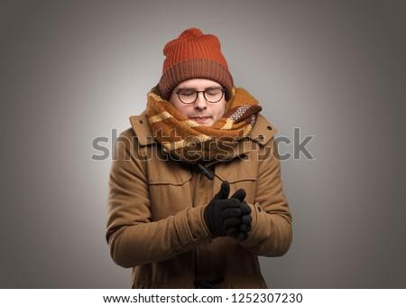заморожены · мальчика · снежинка · ветреный · молодые - Сток-фото © ra2studio