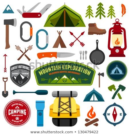 camping shovel icon stock photo © angelp