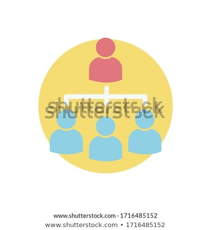 Business Structure. Team work, team collaboration icon. hierarchy or leadership concept. Vector illu Stock photo © kyryloff