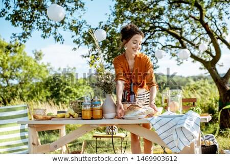 Preparing table Stock photo © pressmaster