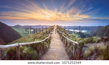 hiking trail in mountains stock photo © andreypopov