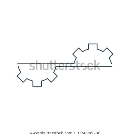 Fél lineáris viselet logoterv javítás kerék Stock fotó © kyryloff