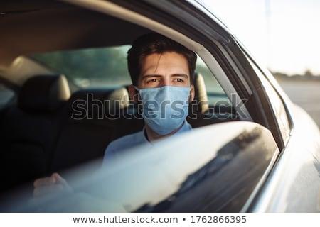Man Sitting On Back Seat Of Car Stock photo © AndreyPopov