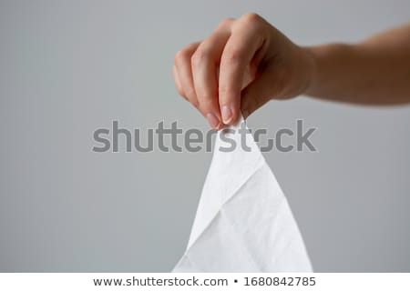 Woman With Cold Holding Tissue And Sneezing Stock photo © HighwayStarz