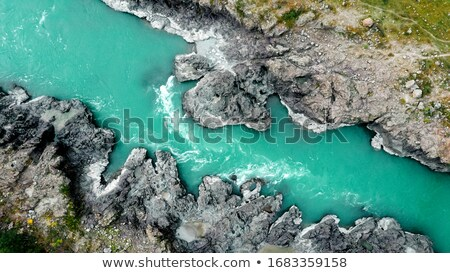Aerial view of Katun river Stock photo © olira