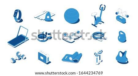 фляга спорт оборудование изометрический икона вектора Сток-фото © pikepicture