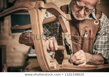 Stock photo: elderly carpenter