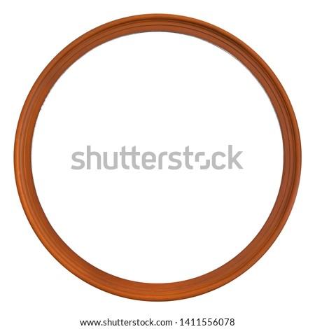 white background and gold circular edge Stock photo © marimorena