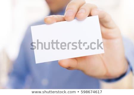 Businesscard, closeup shot Stock photo © stockyimages