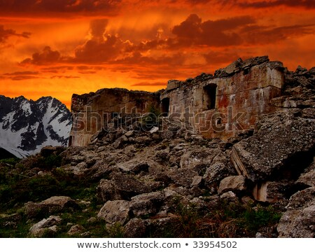 war ruins in Dolomites Stock photo © Antonio-S