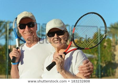 Portrait of tennis couple Stock photo © photography33