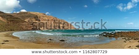 Lanzarote Orzola Playa la Cantera beach Stock photo © lunamarina