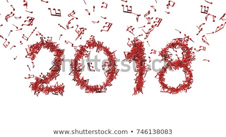 abstract new year background with musical word Stock photo © rioillustrator